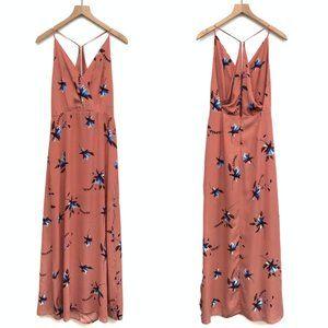 New Lush Pink & Blue Floral Maxi Dress - Size M